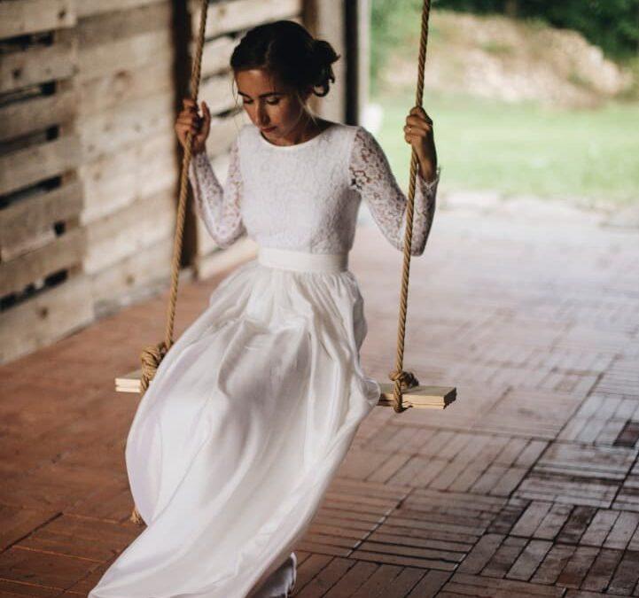 Bílé a cnostné.. svatební šaty pro Jani